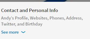 LinkedIn Desktop Redesign Contact Info