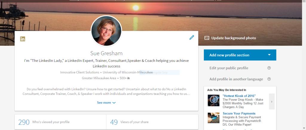LinkedIn Desktop Redesign Profile Top Section
