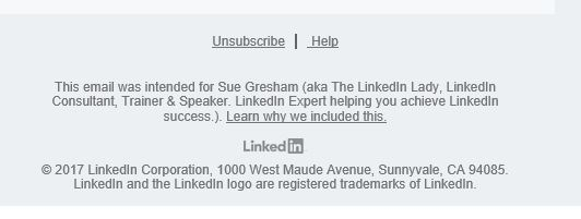 phishing emails that claim they're from LinkedIn don't have this footer